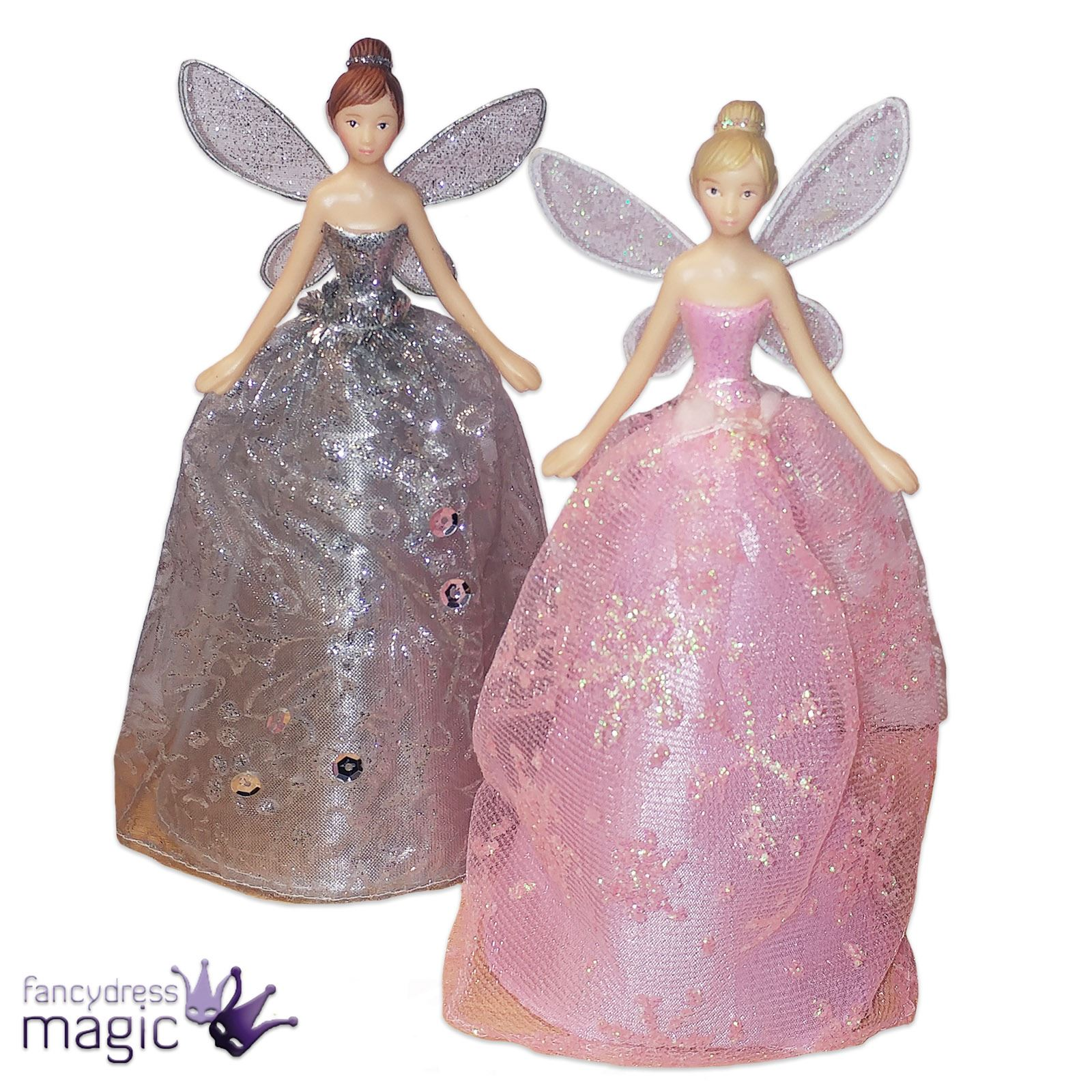 Gisela Graham Christmas Tree Topper: Gisela Graham Glitter Angel Fairy Pixie Christmas Xmas