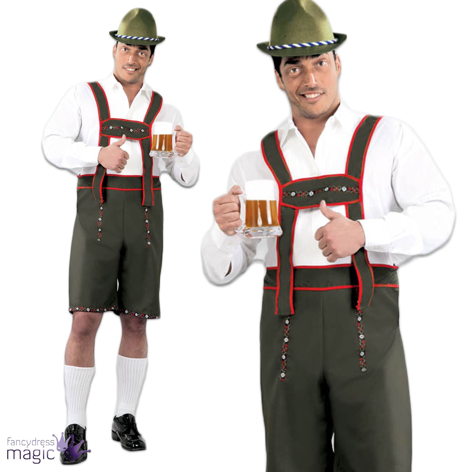 mens oktoberfest german beer man lederhosen bavarian fancy. Black Bedroom Furniture Sets. Home Design Ideas