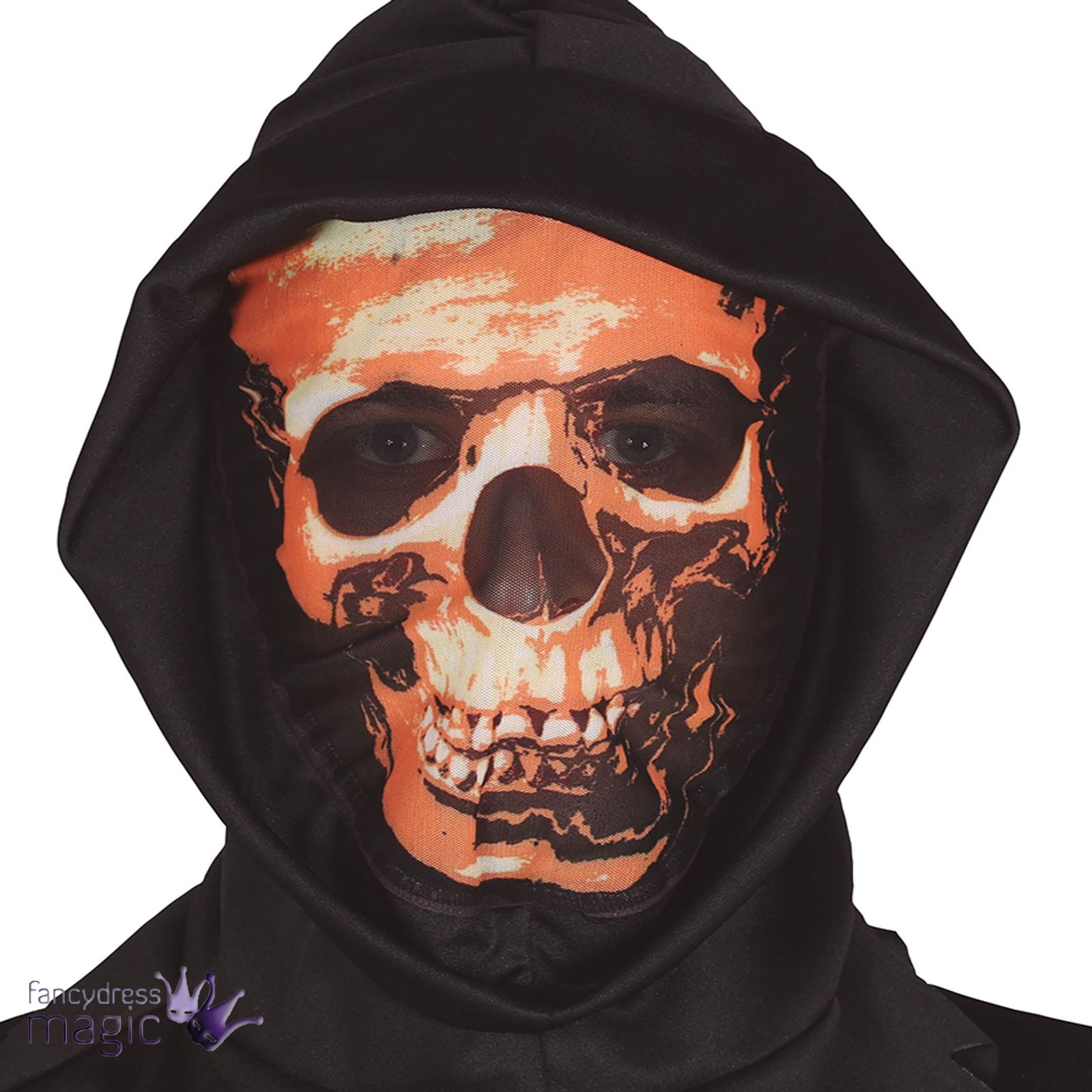 adults halloween mask hood sugar skull devil dark