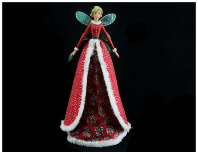 GISELA GRAHAM 28cm RETRO VINTAGE FAIRY ANGEL CHRISTMAS