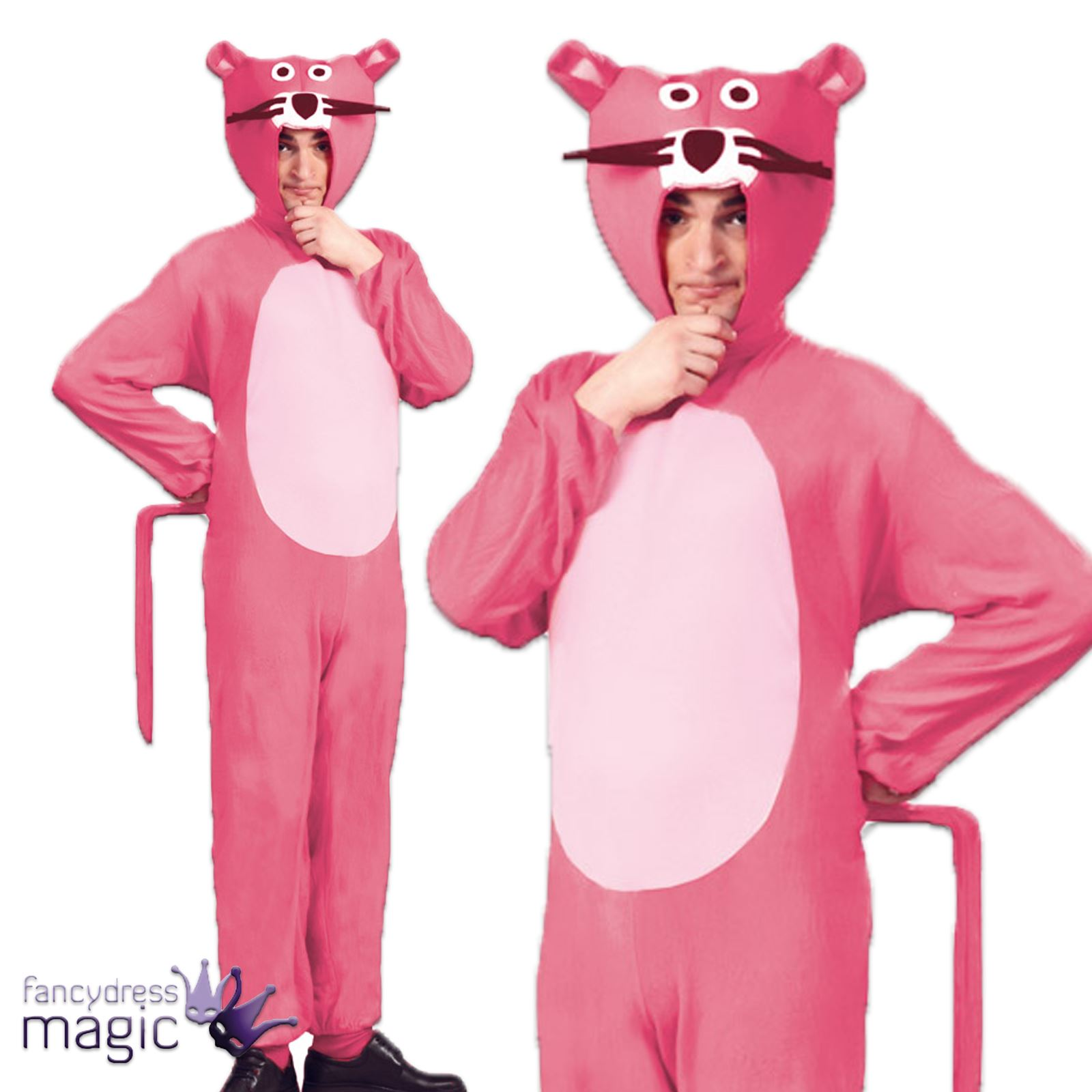 Adult Pink Panther TV Cartoon Film 60s 70s 80s Fancy Dress Costume Outfit  sc 1 st  eBay & Adult Pink Panther TV Cartoon Film 60s 70s 80s Fancy Dress Costume ...