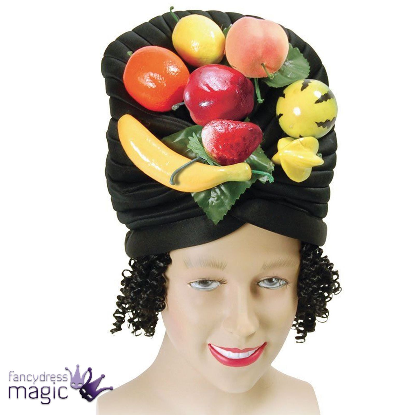 3bf6321c47b Carmen Miranda Fruit Hat Wig Hair Fancy Dress Costume Caribbean Brazil  Carnival