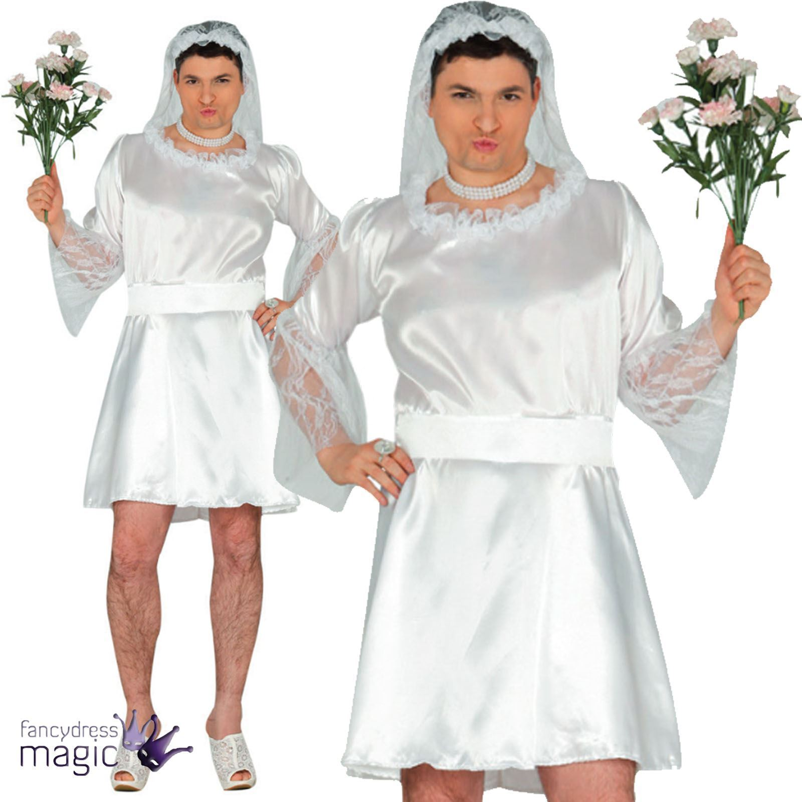 70b9912bd1 Details about Adult Mens Wedding Male Bride Stag Do Party Job Lot Fancy  Dress Costume Outfit