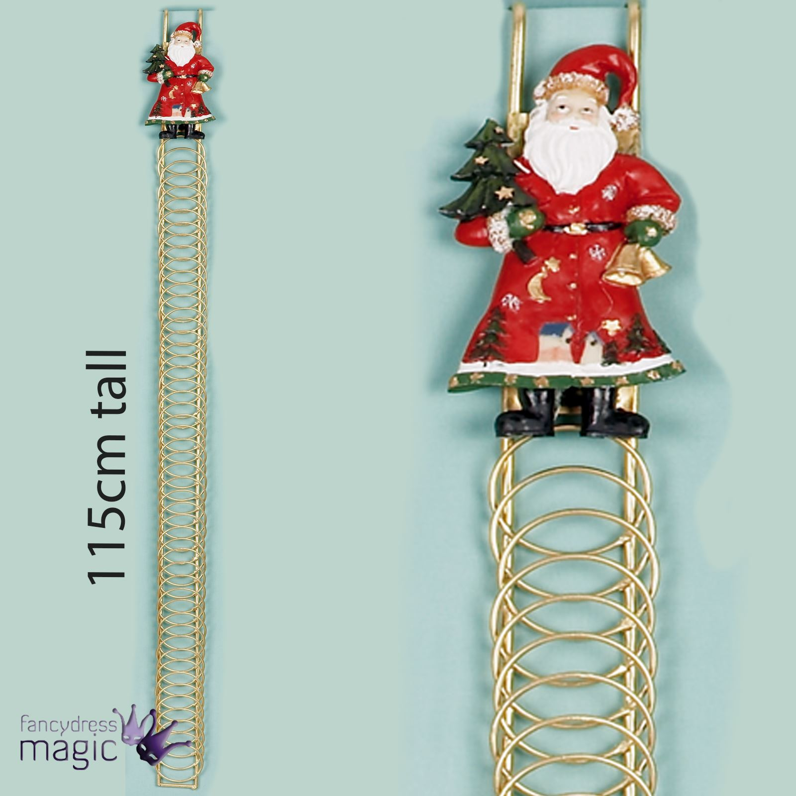 115cm Tall 50 Christmas Card Santa Metal Over Door Hanging ...