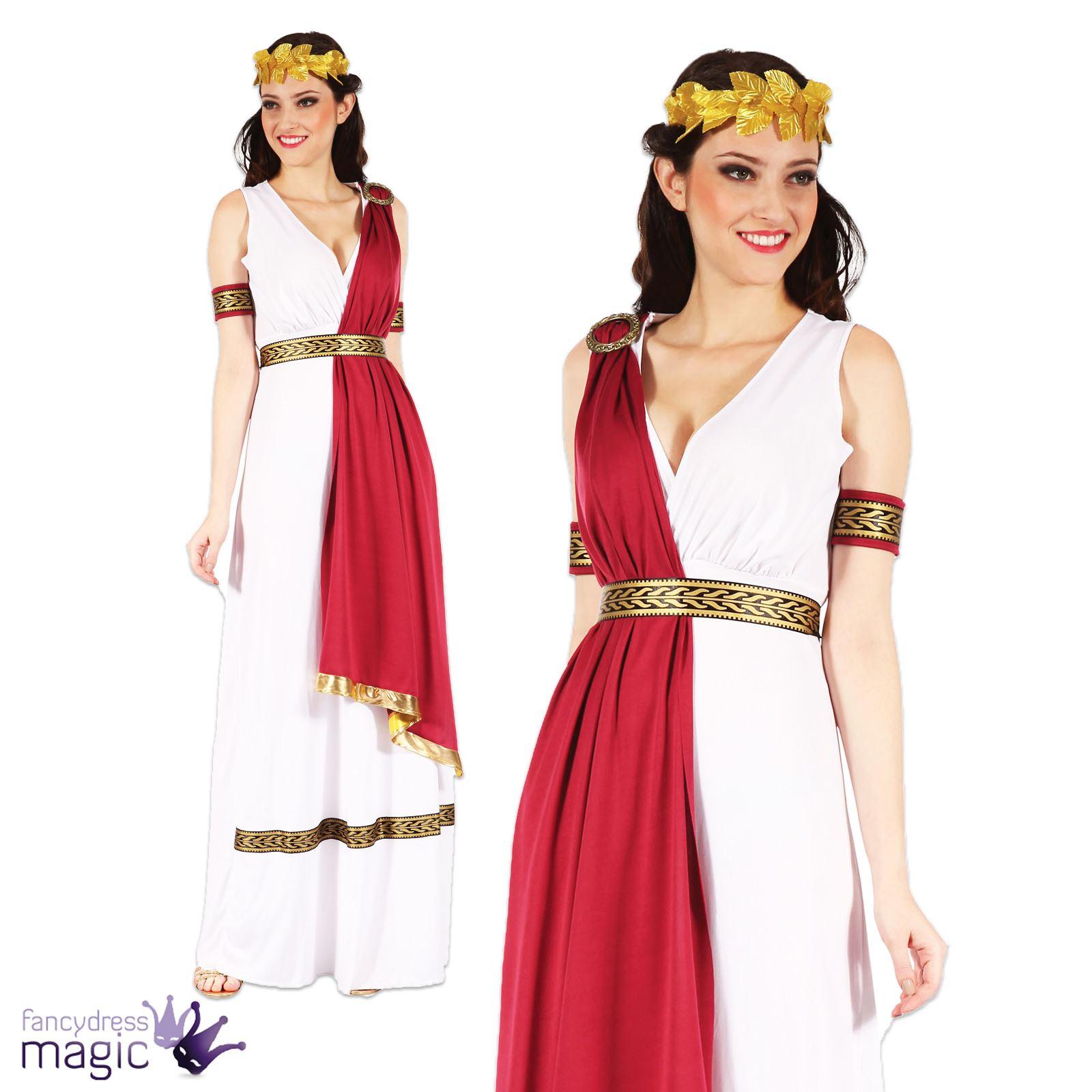 Mens Ladies Greek Roman God Goddess Toga Caesar Venus Fancy Dress