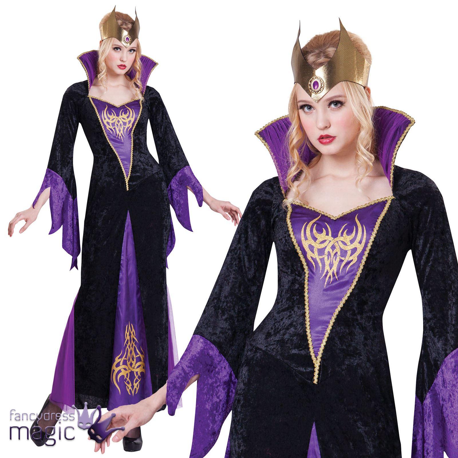 femmes sexy evil reine sorci re mal fique femmes d guisement halloween ebay. Black Bedroom Furniture Sets. Home Design Ideas