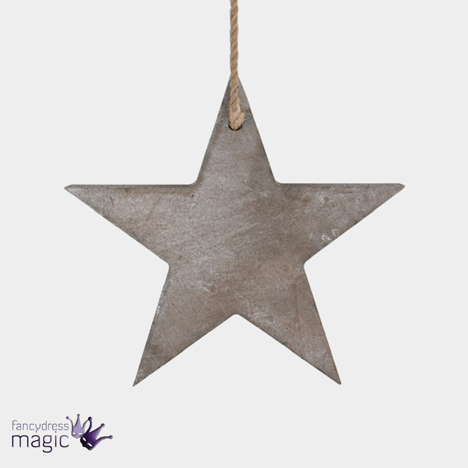 East of India Wooden Distressed Star Christmas Tree Decoration Chic ...