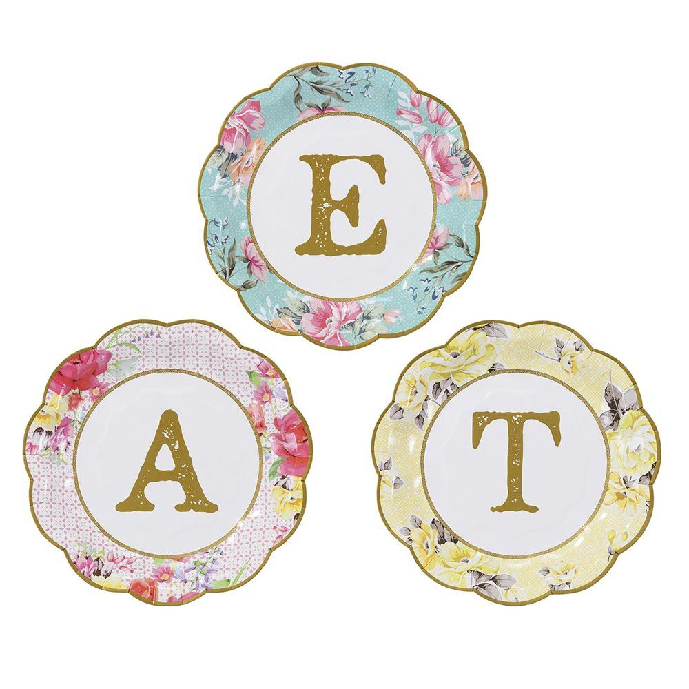 Talking Tables Truly Scrumptious Small Paper Plates With \'eat ...