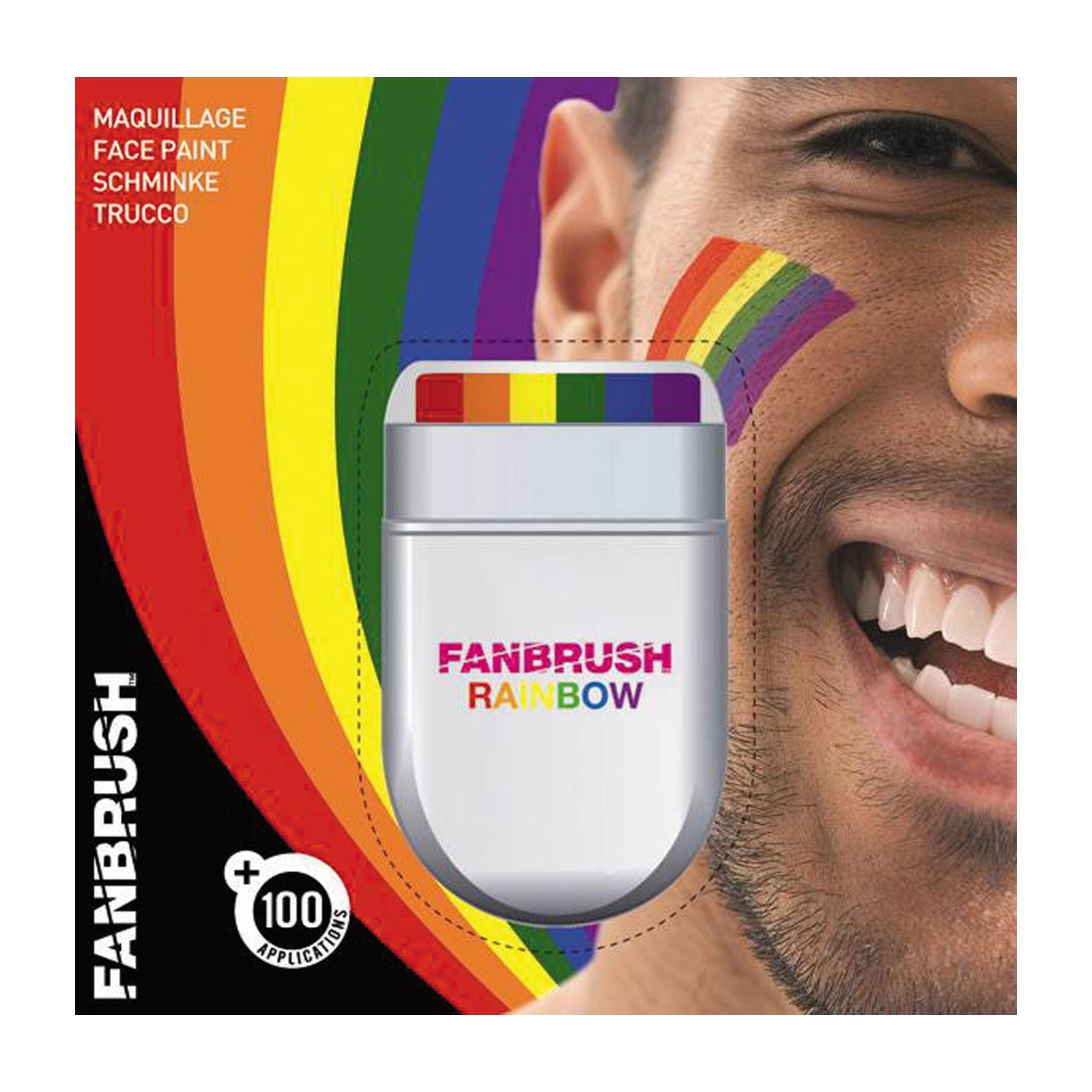 la cara y el cuerpo de pintura fcil pintura de la cara bandera del arco iris del orgullo gay de maquillaje fanbrush