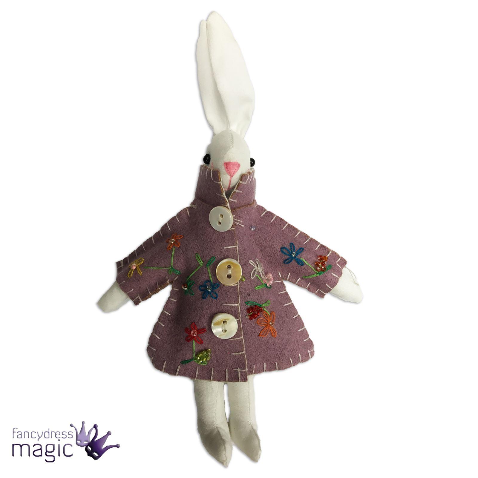 Gisela graham applique easter bunny rabbit in raincoat for Applique decoration