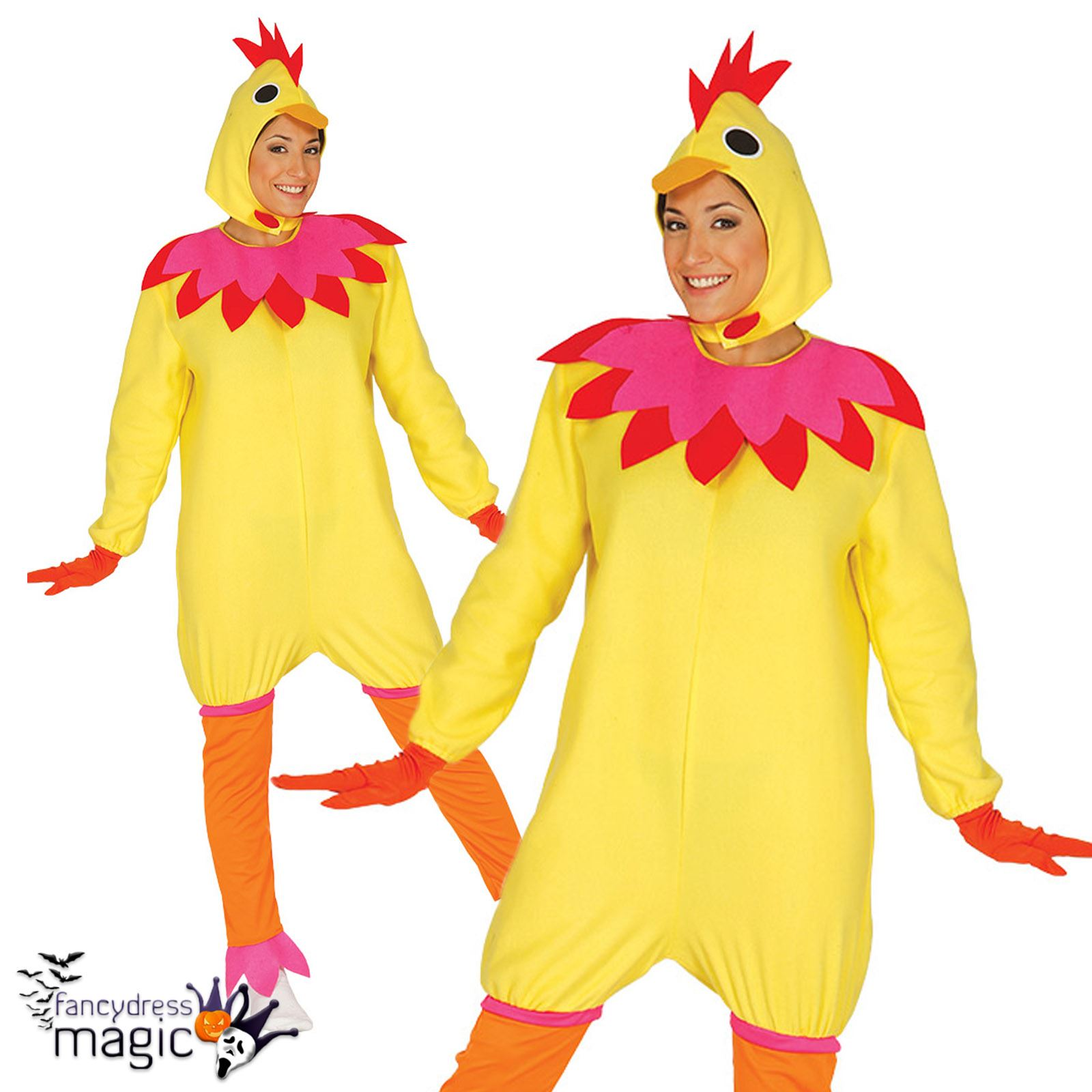 Adult Ladies Chicken Hen Party Novelty Animal Fancy Dress