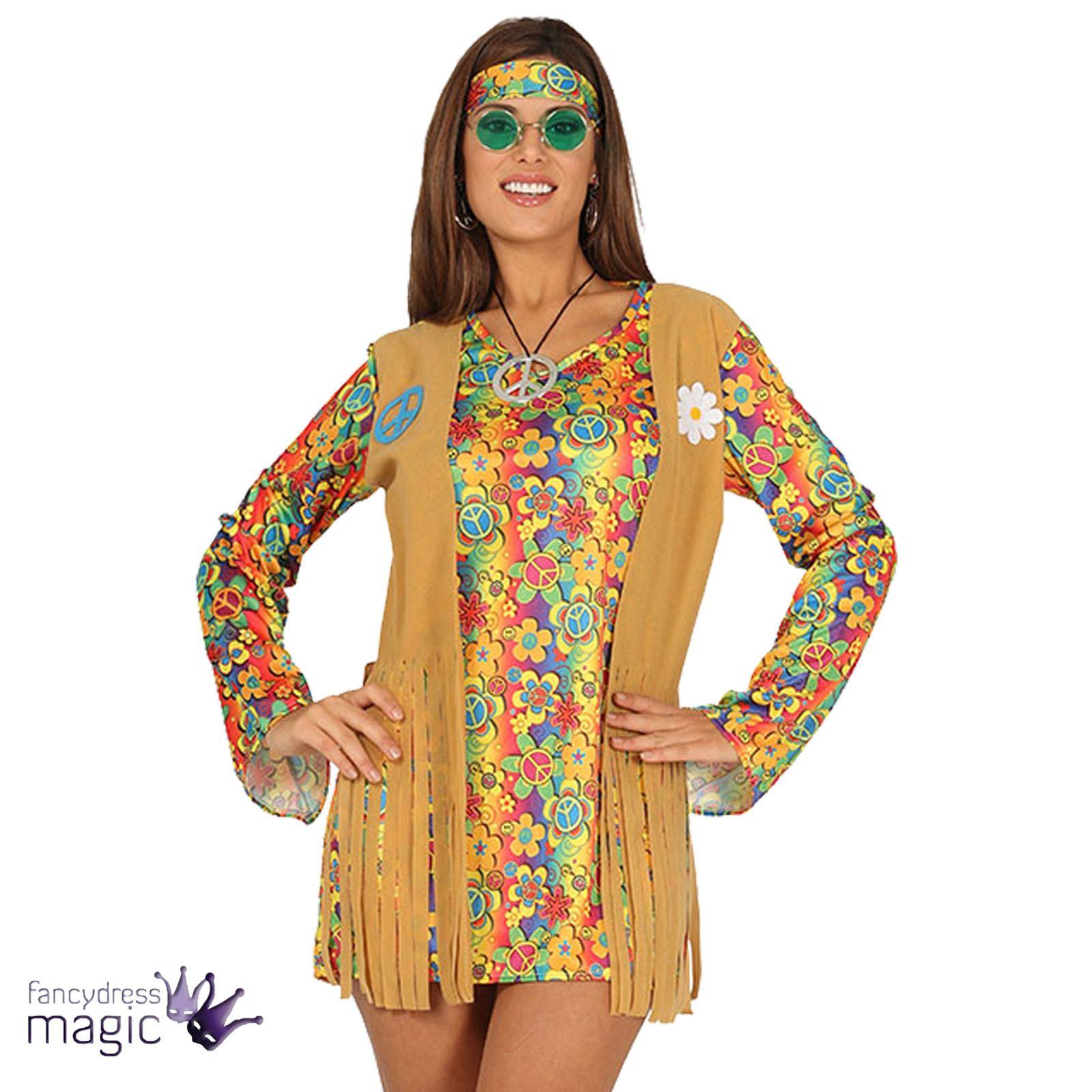 Femmes ann es 60 70 hippie costume d guisement bandeau - Hippie annee 70 ...