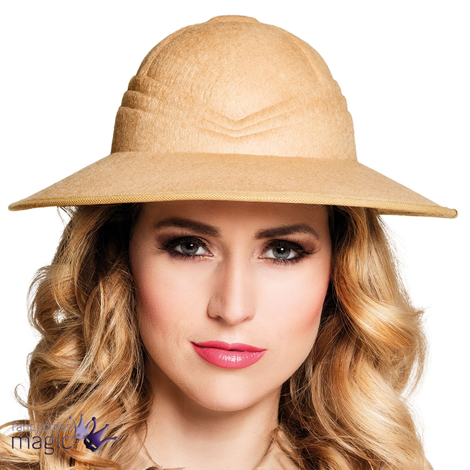 Disfraces hombre adulto damas Safari selva explorador africano salacot  sombrero e069893edaf