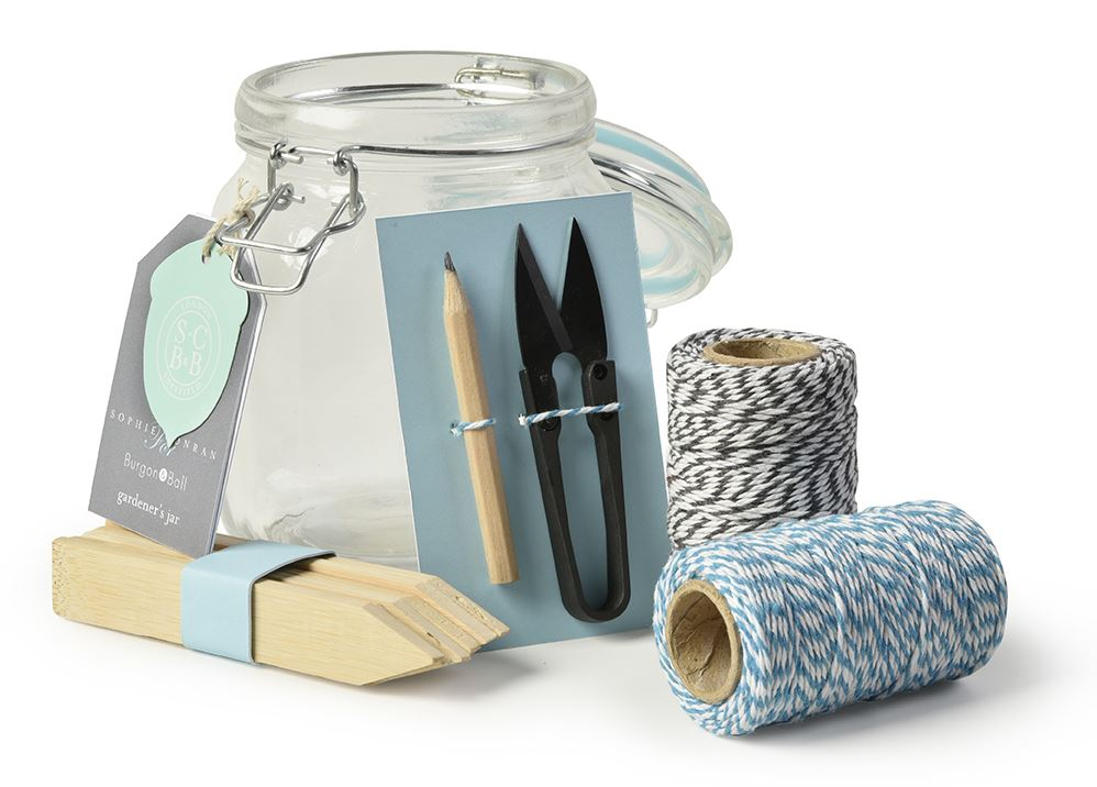 burgon and ball sophie conran garden gardeners mason jar set tools twine gift. Black Bedroom Furniture Sets. Home Design Ideas