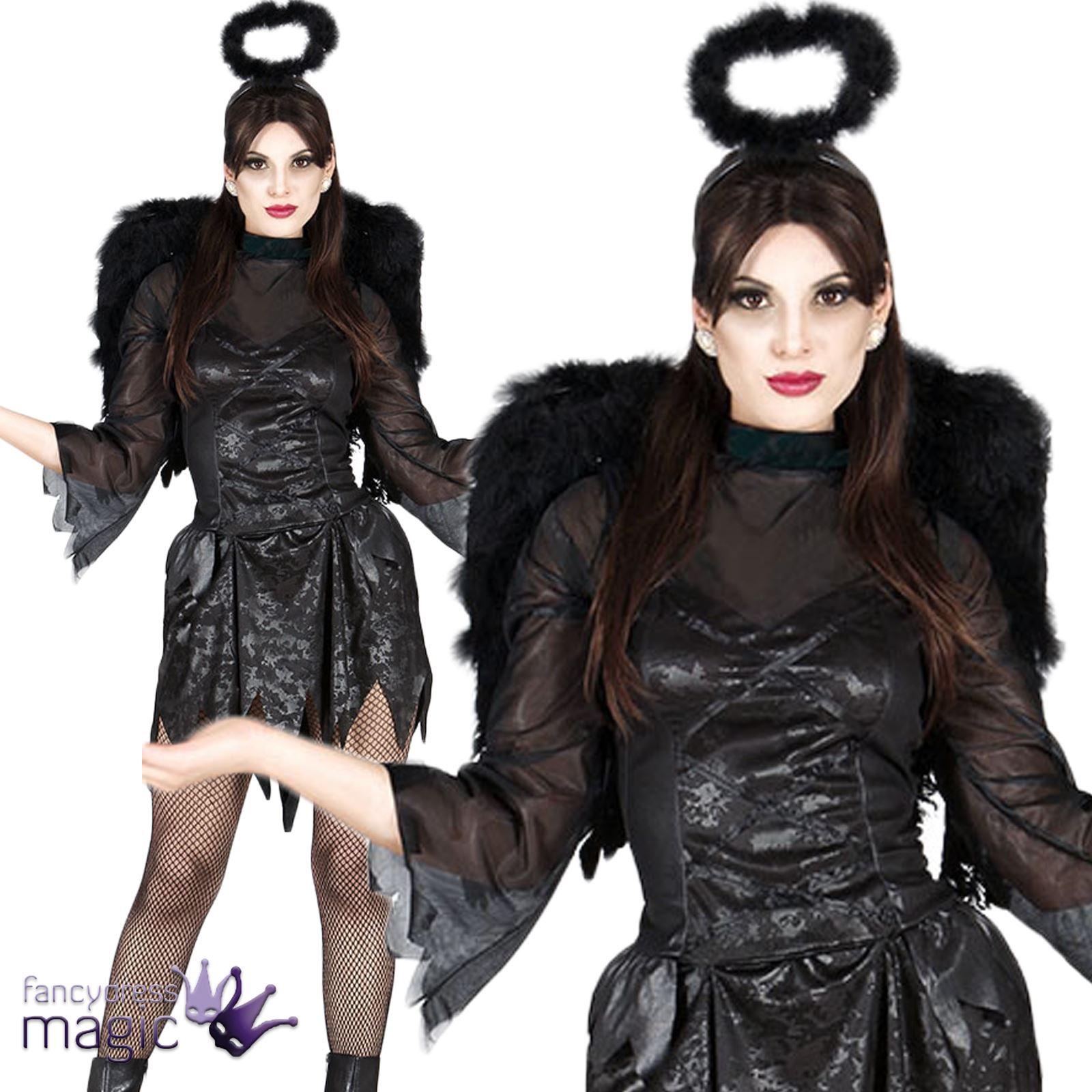 disfraces mujer vestido negro