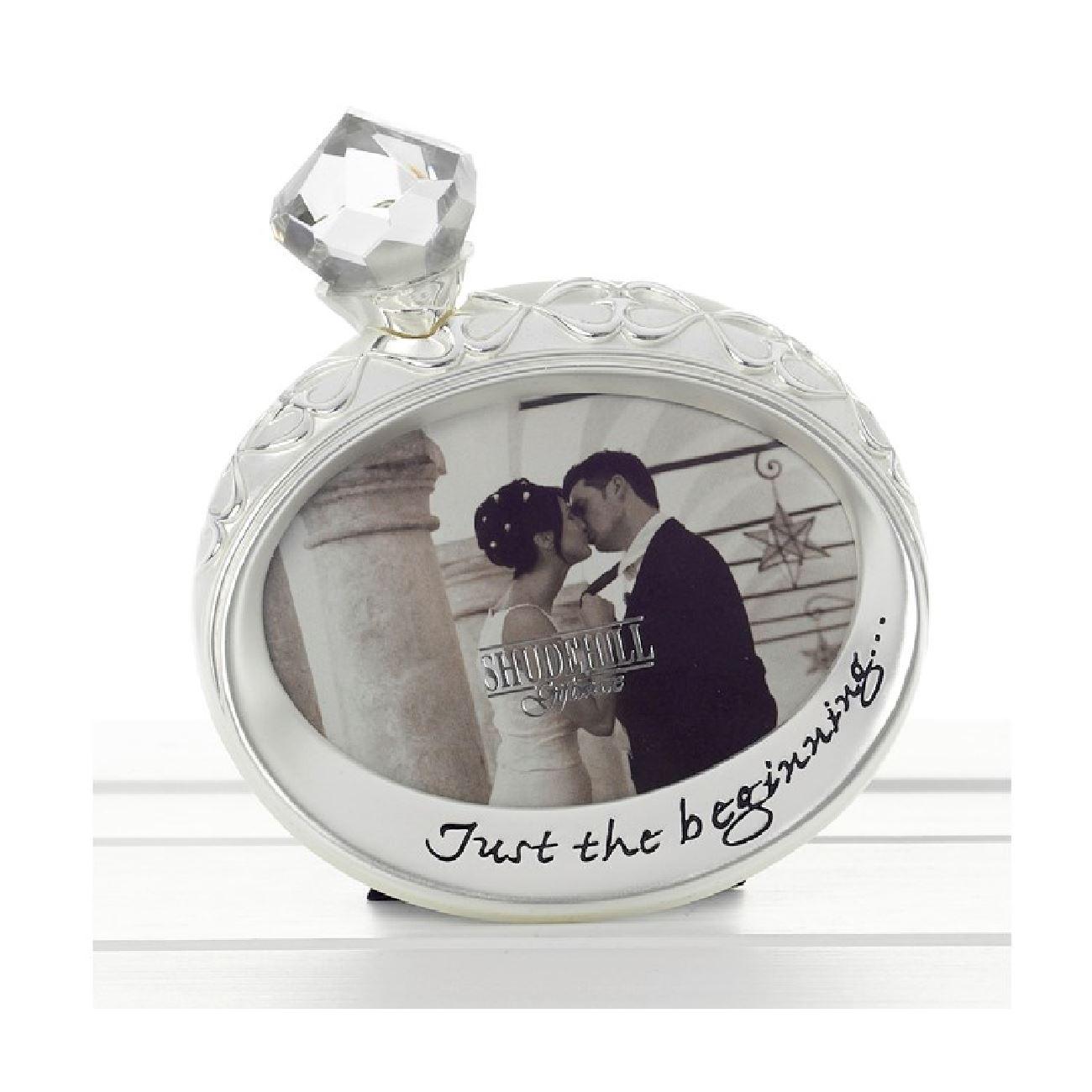 Shudehill Plata Anillo de compromiso marco para fotos married regalo ...