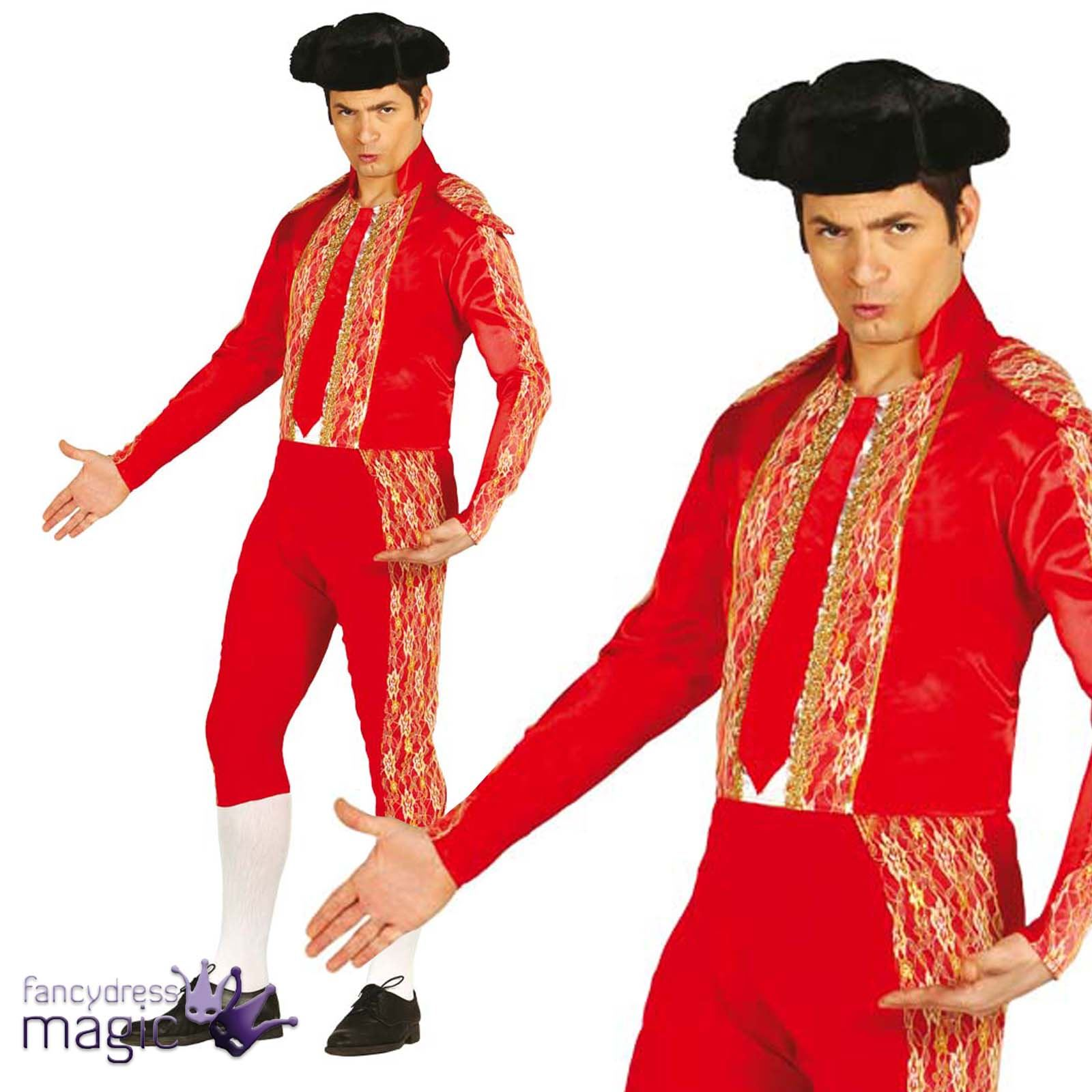 Adult Red Bullfighter Toreador Matador Spain Spanish Fancy Dress Costume Outfit Ebay