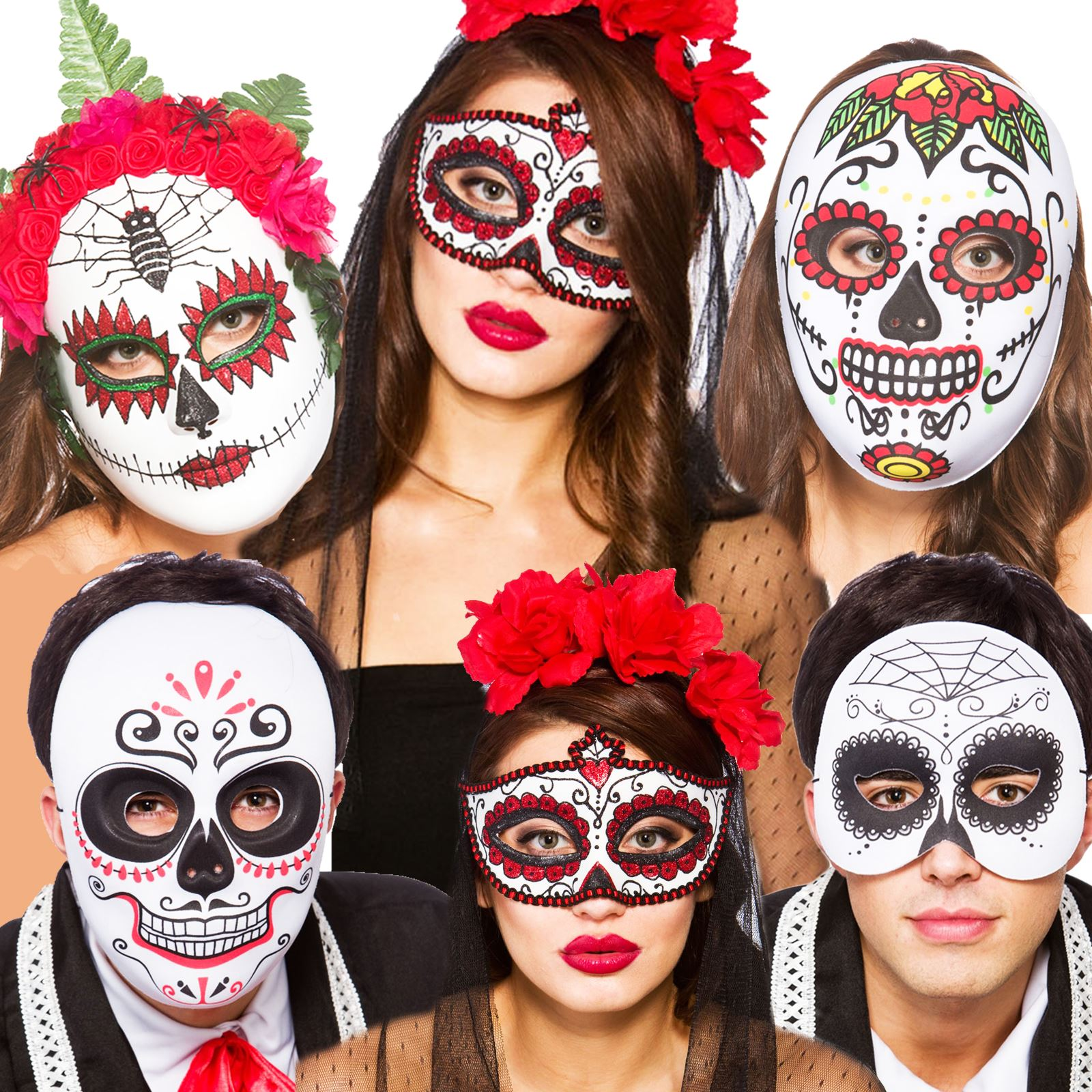 good Colourful Mexican Day Of The Dead Eyemask Halloween Fancy ...