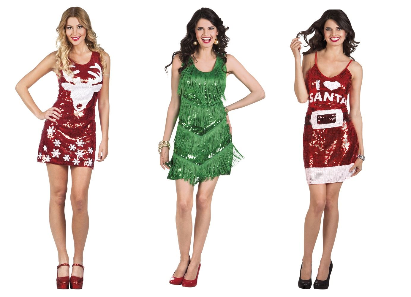Ladies Womens Adult Sexy Dazzle Christmas Party Sparkly