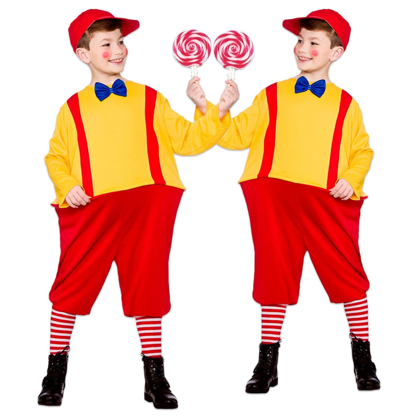 KIDS CHILDS TWEEDLE DEE DUM STORY BOOK WEEK TWINS FANCY DRESS