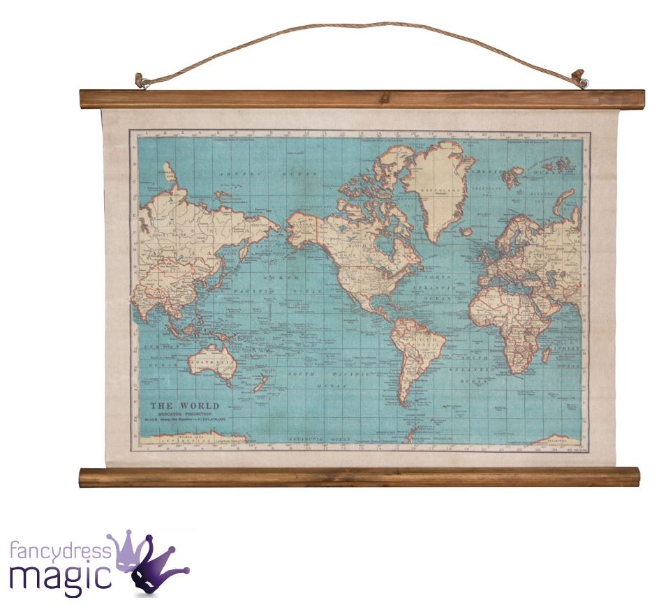 Sass belle vintage collection world map wall hanging canvas sass belle vintage collection world map wall hanging canvas tapestry home gift gumiabroncs Image collections