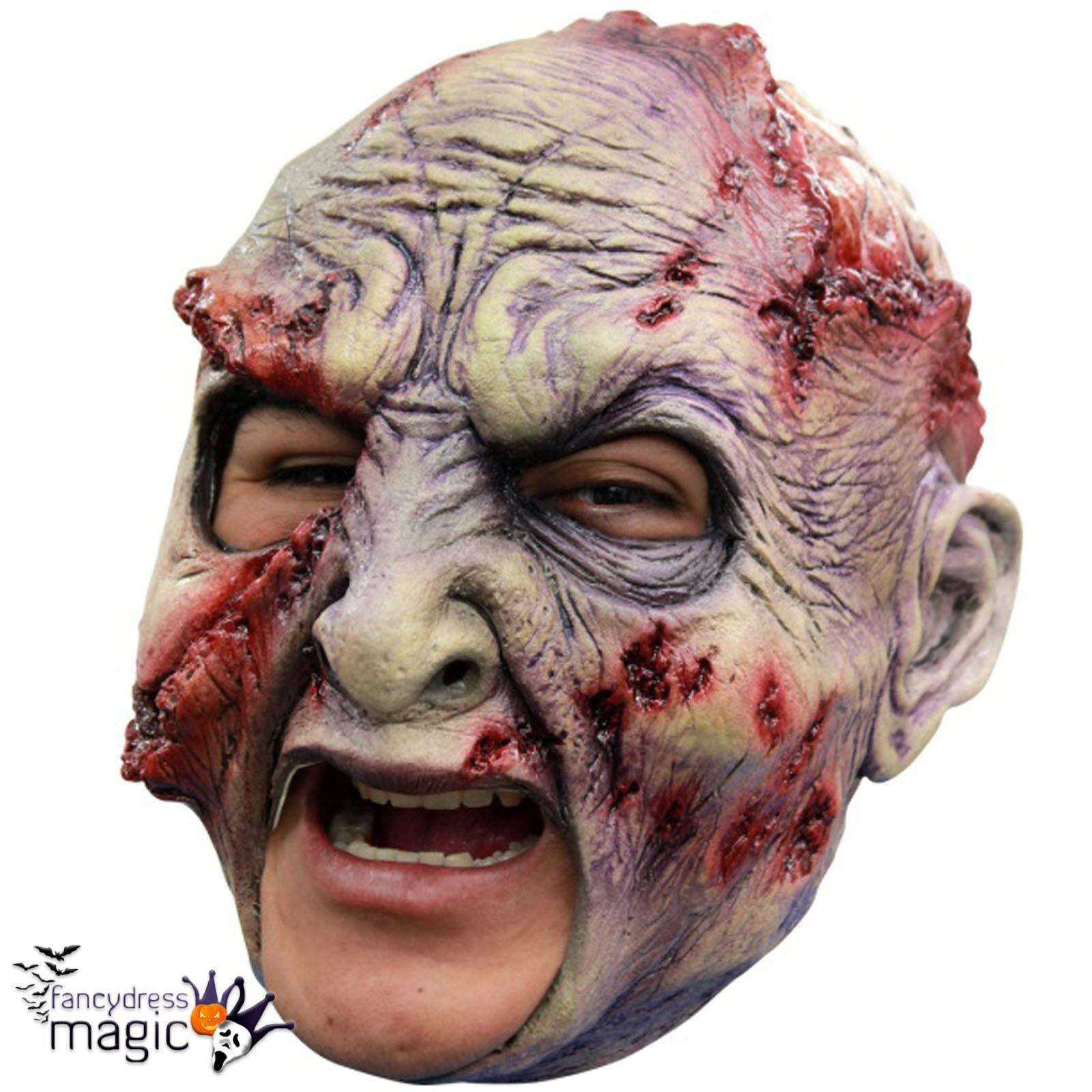Adult Halloween Horror Chinless Chin Strap Head Fancy Dress ...