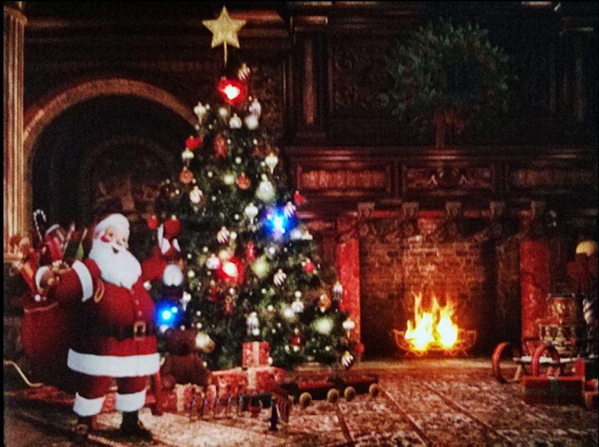 led beleuchtung wandbehang leinwand bild weihnachten szene. Black Bedroom Furniture Sets. Home Design Ideas