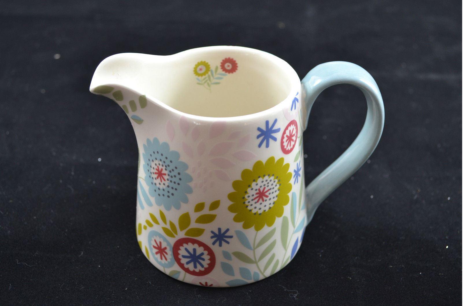 Gisela graham pa s floral cocina cer mica leche crema for Jarra leche