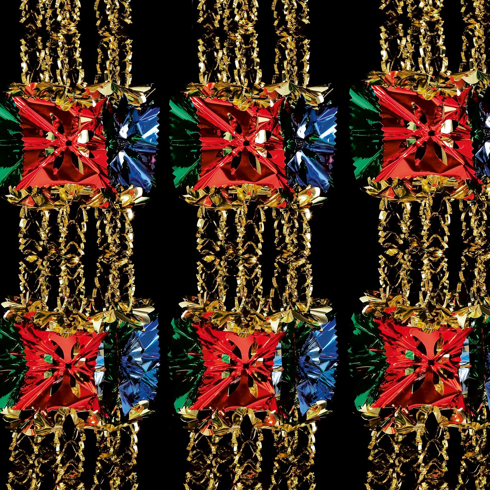 Christmas decor to hang from ceiling - 2 7m Foil Luxury Garland Large Foil Christmas