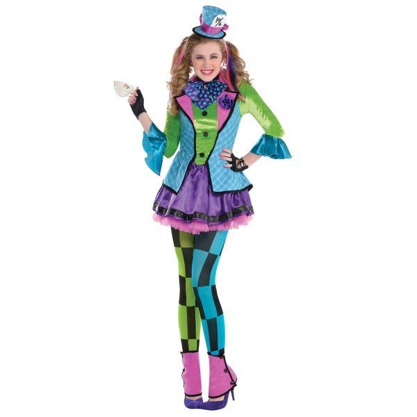 niña adolescente SASSY Sombrerero Loco Alice in wonderland Disfraz ...