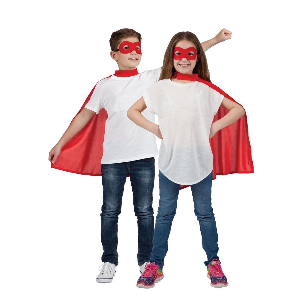 Kinder Mädchen Jungen Superheld Comicbuch Umhang Augen Maske Kostüm ...
