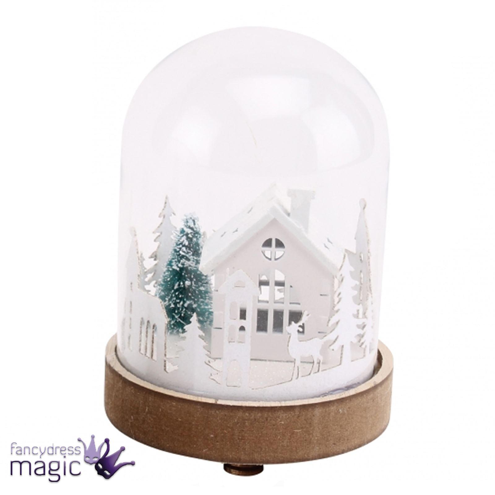 Mini Aufleuchtend Schnee Kuppel Kugel Weihnachten Lichter Szene ...