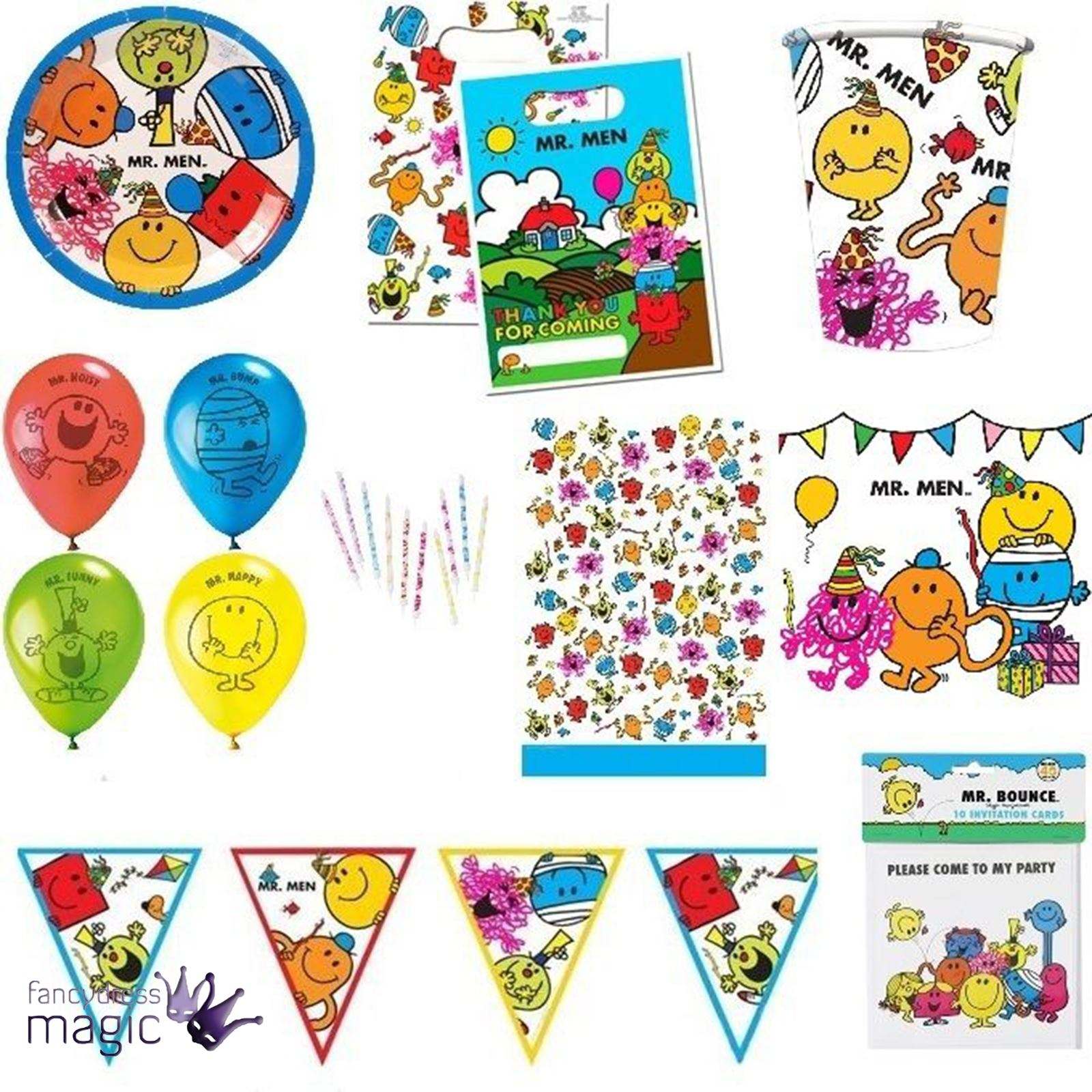 Mr Men Little Miss Roger Hargreaves Kid Child Birthday Party Favour ...