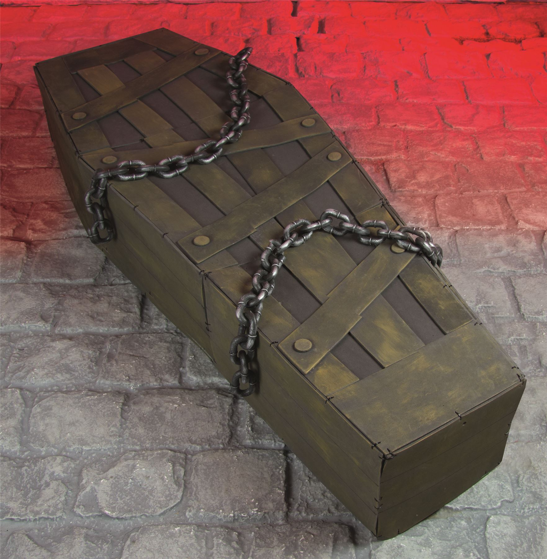 53ft halloween chained shaking coffin decoration zombie graveyard prop sound