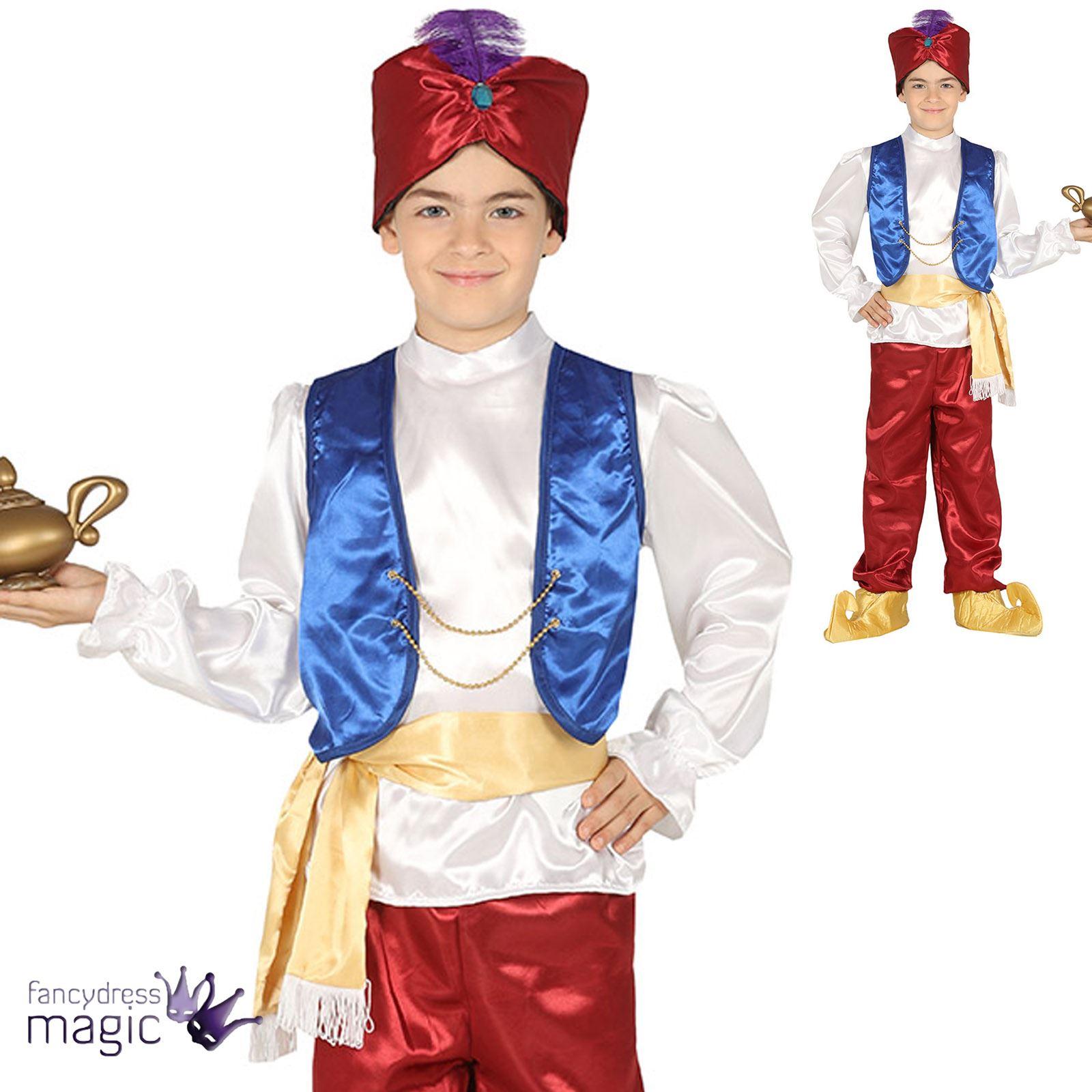 Men/'s Sinbad Pantomime Fancy Dress Party Aladdin Arabian Genie Bandit Outfit UK