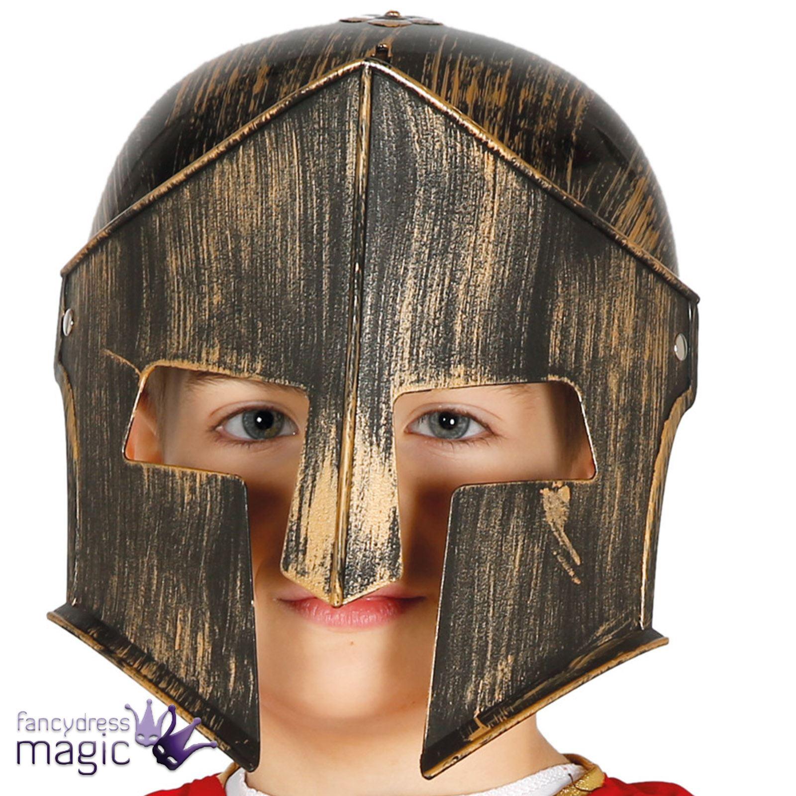 infantil Romano Soldado Disfraz Casco Gladiador espartano guerrero ...
