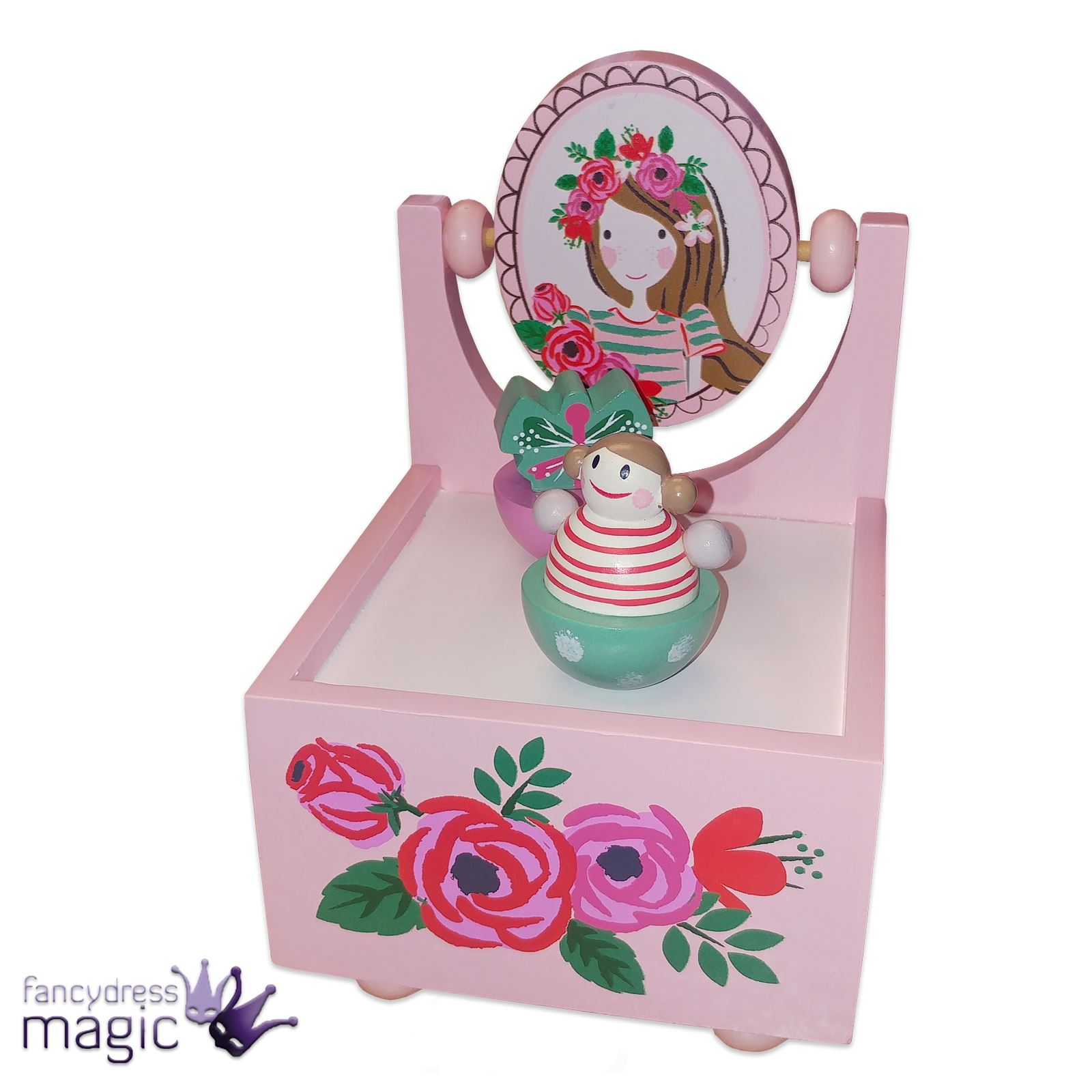 Gisela graham rotating moving wooden music box home decoration gisela graham rotating moving wooden music box home negle Images