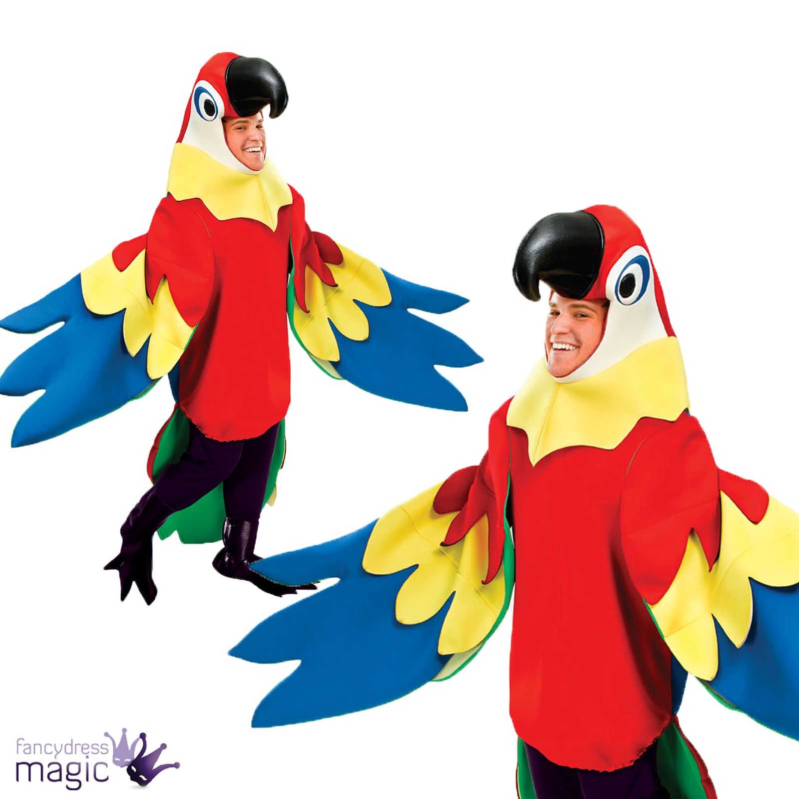 Exceptionnel Adulte Homme/femme De Luxe Perroquet Oiseau Déguisement Pirate  PD19