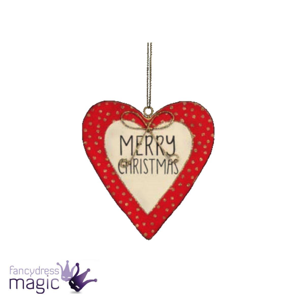 Gisela Graham Heart Merry Christmas Wooden Fairy Hanging Tree Home ...