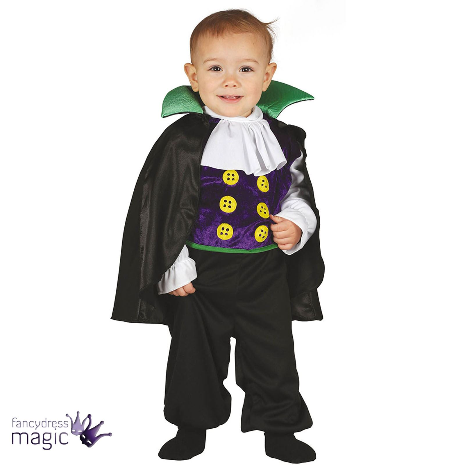 boys baby toddler halloween vampire dracula fancy dress costume