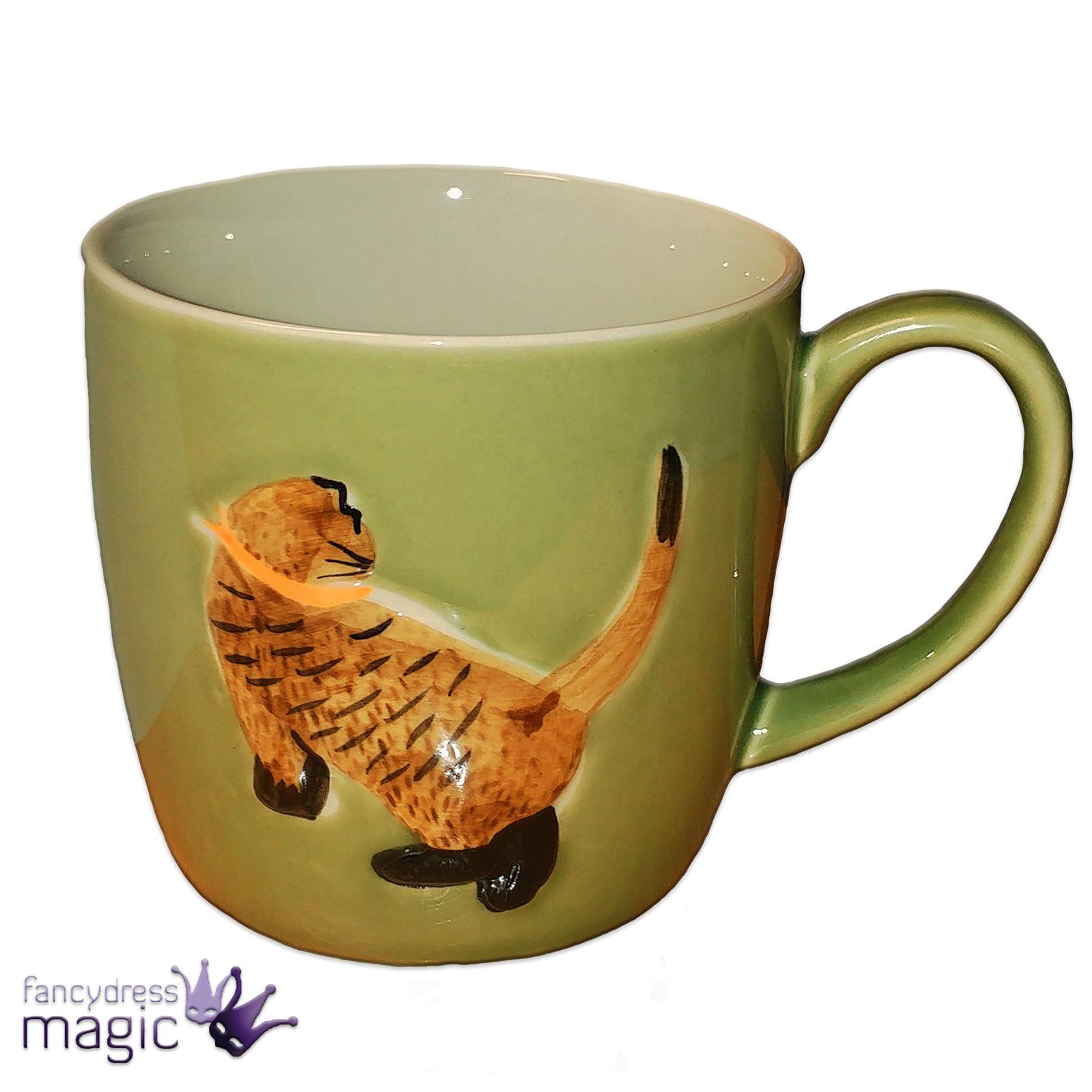 gisela graham c ramique tasse caf tasse th en relief design chat animal ebay. Black Bedroom Furniture Sets. Home Design Ideas