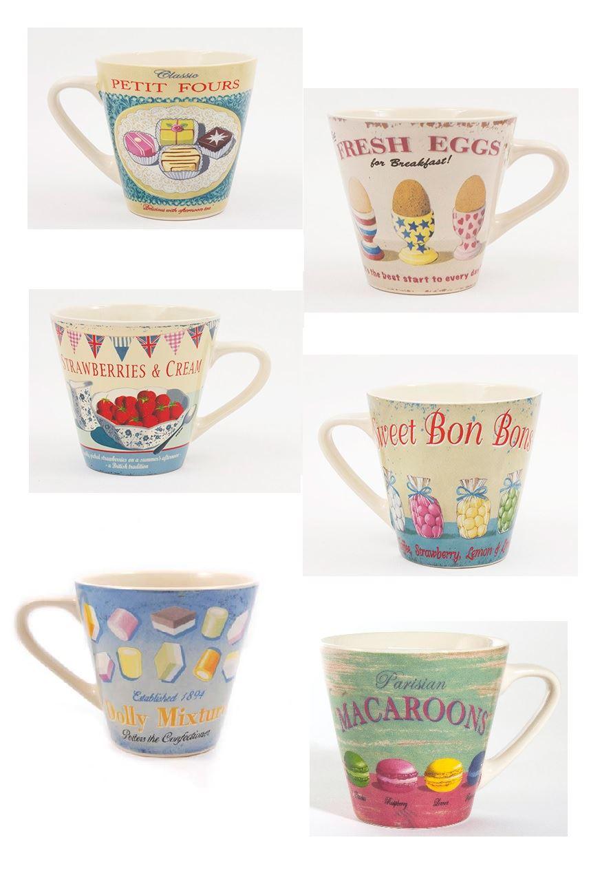 Martin Wiscombe Retro Kaffe Tee Becher groß Keramik konisch Tasse ...