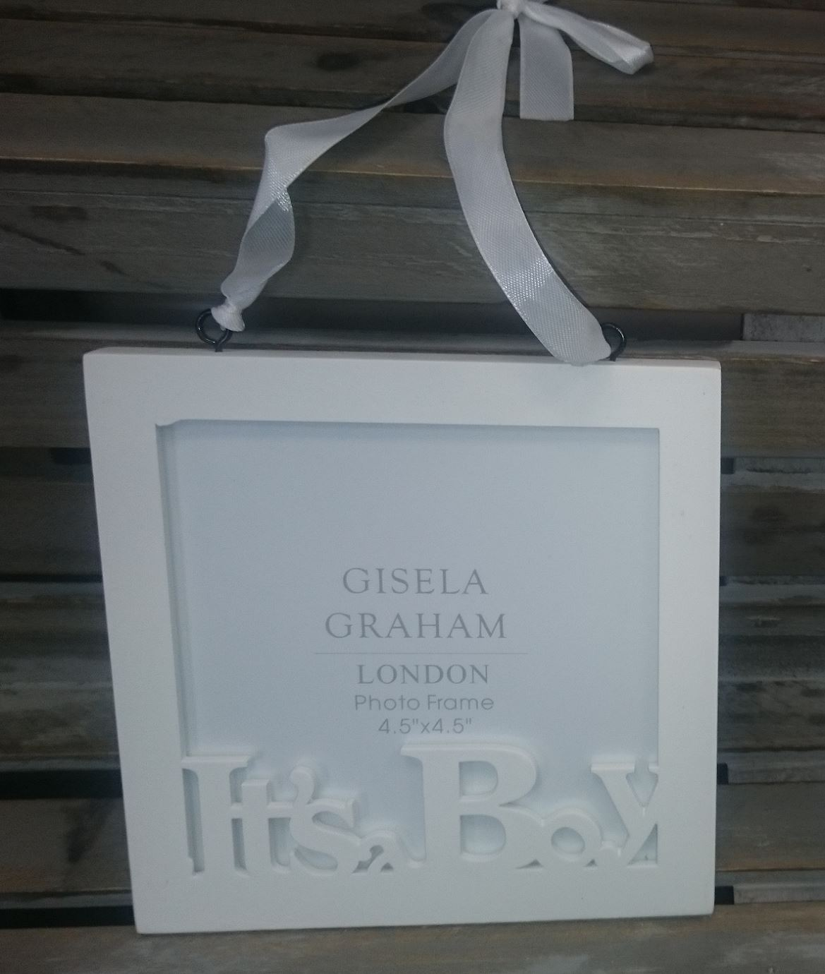 GISELA GRAHAM ITS A BOY GIRL WOODEN PICTURE PHOTO FRAME BABY SHOWER ...