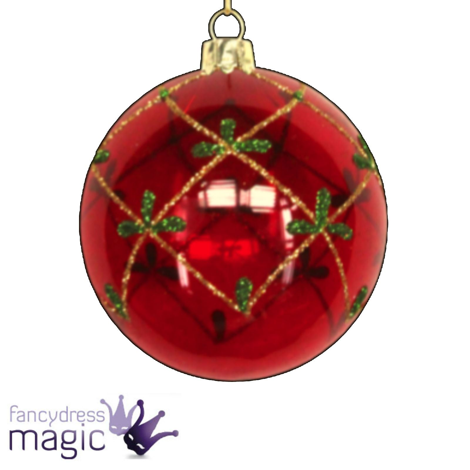 Gisela graham glass bauble ball hanging christmas tree for Hanging christmas decorations