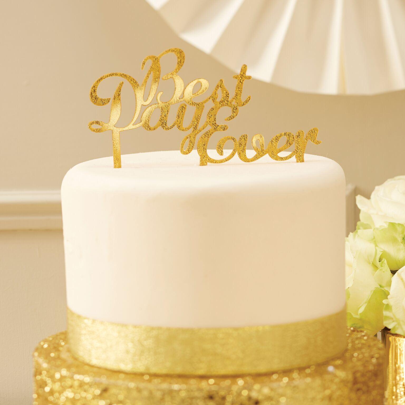 Ginger Ray Acrylic Best Day Ever Wedding Engagement Bride Cake ...