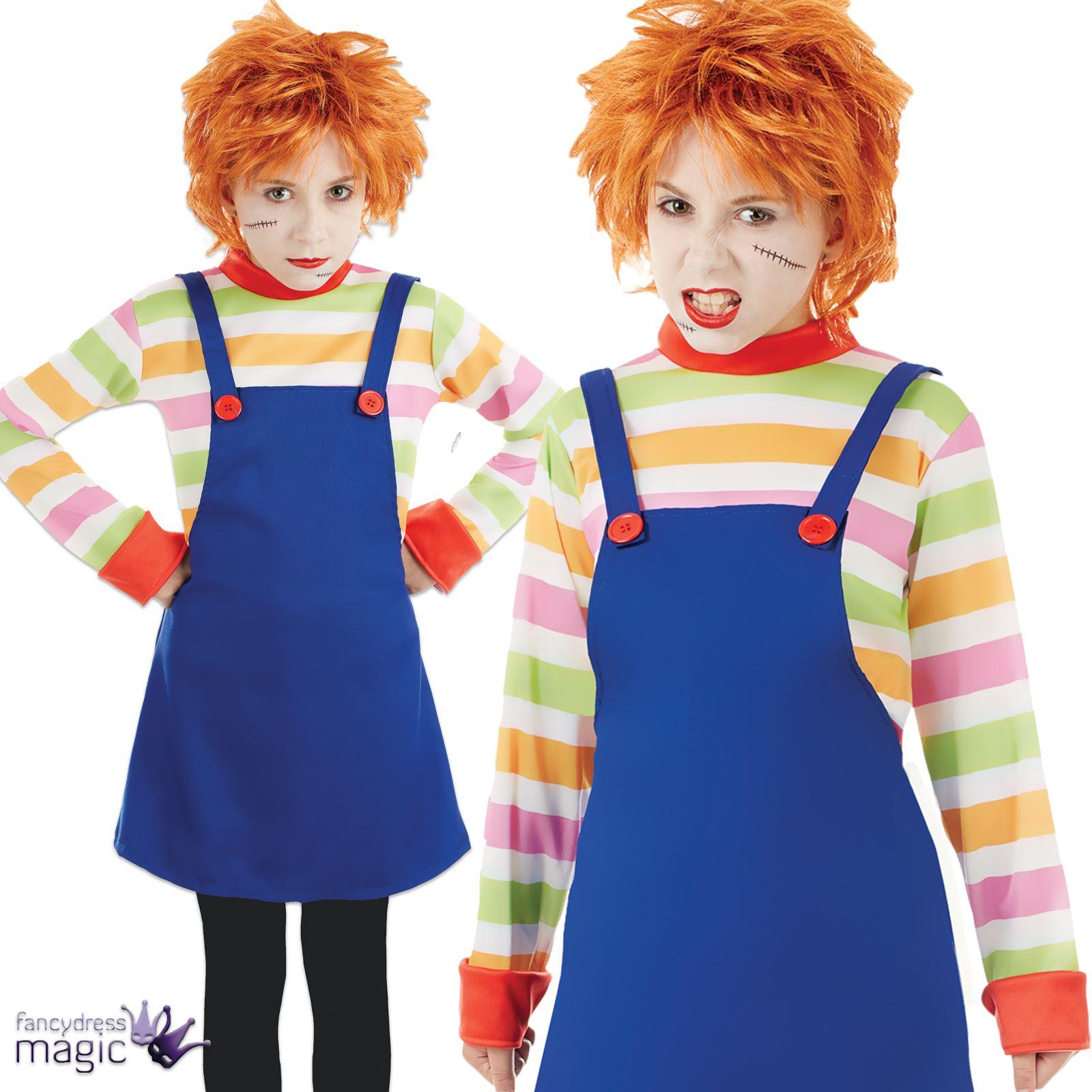 kids boys girls childs halloween evil dummy chucky movie doll fancy