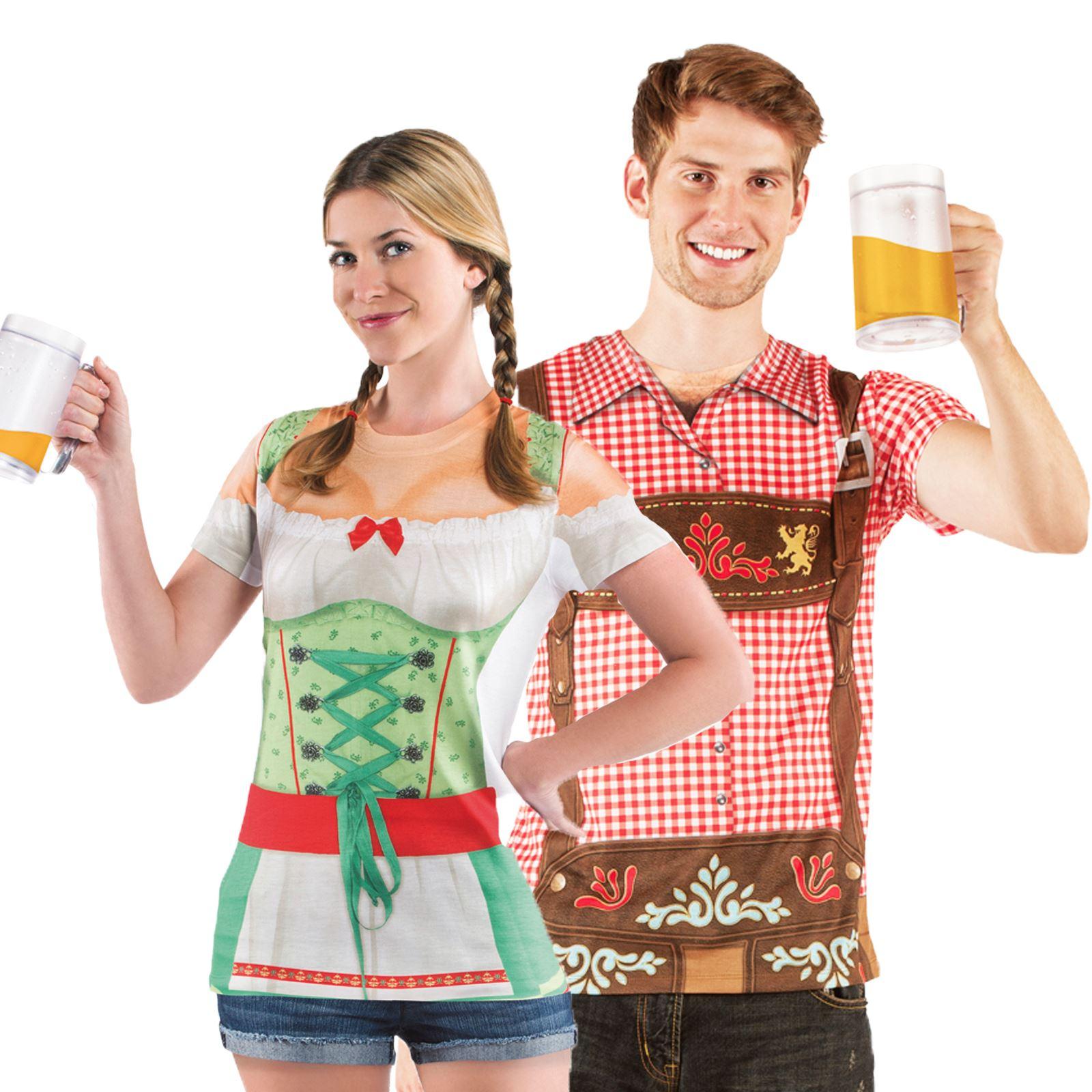 Fest Damen Deutsches Lederhosen Herren T Oktoberfest Shirt Pf8x7fz
