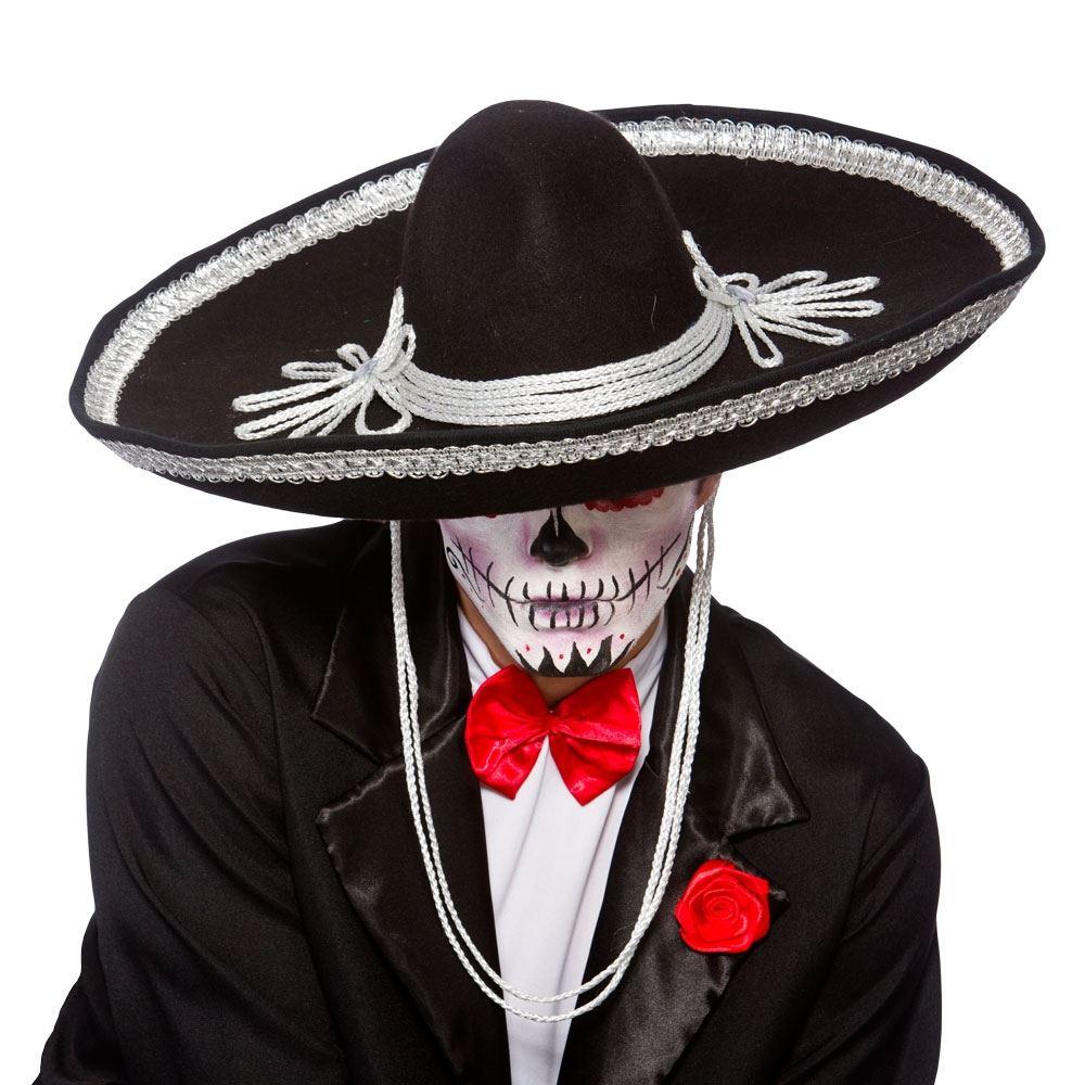 Día de los muertos Mariachi banda sombrero disfraces Español mexicano  Halloween adulto   a41f59812a5