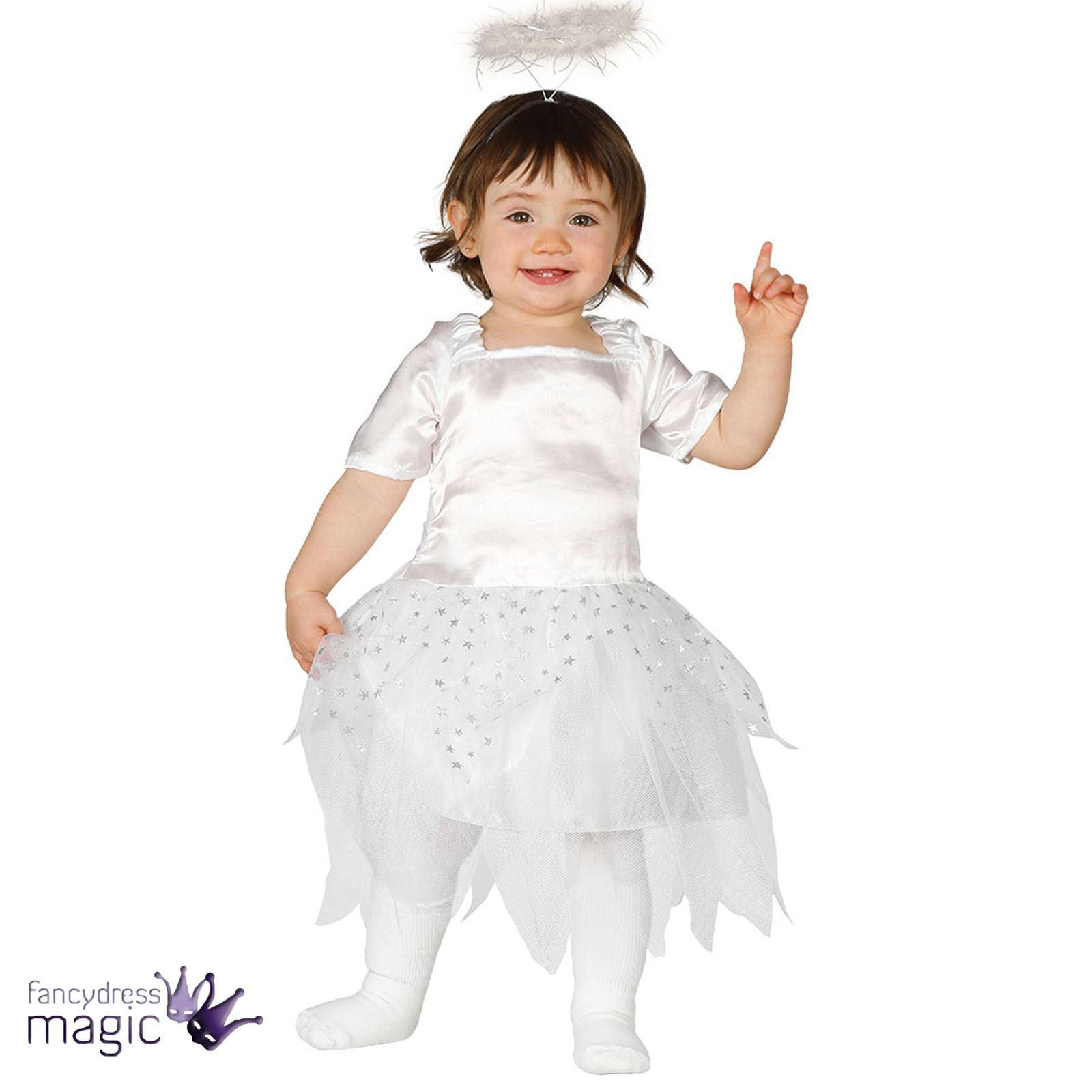 Baby Toddler Christmas Xmas Angel Fairy Fancy Dress Costume Outfit Halo  Headband 9cd5c87bfaf