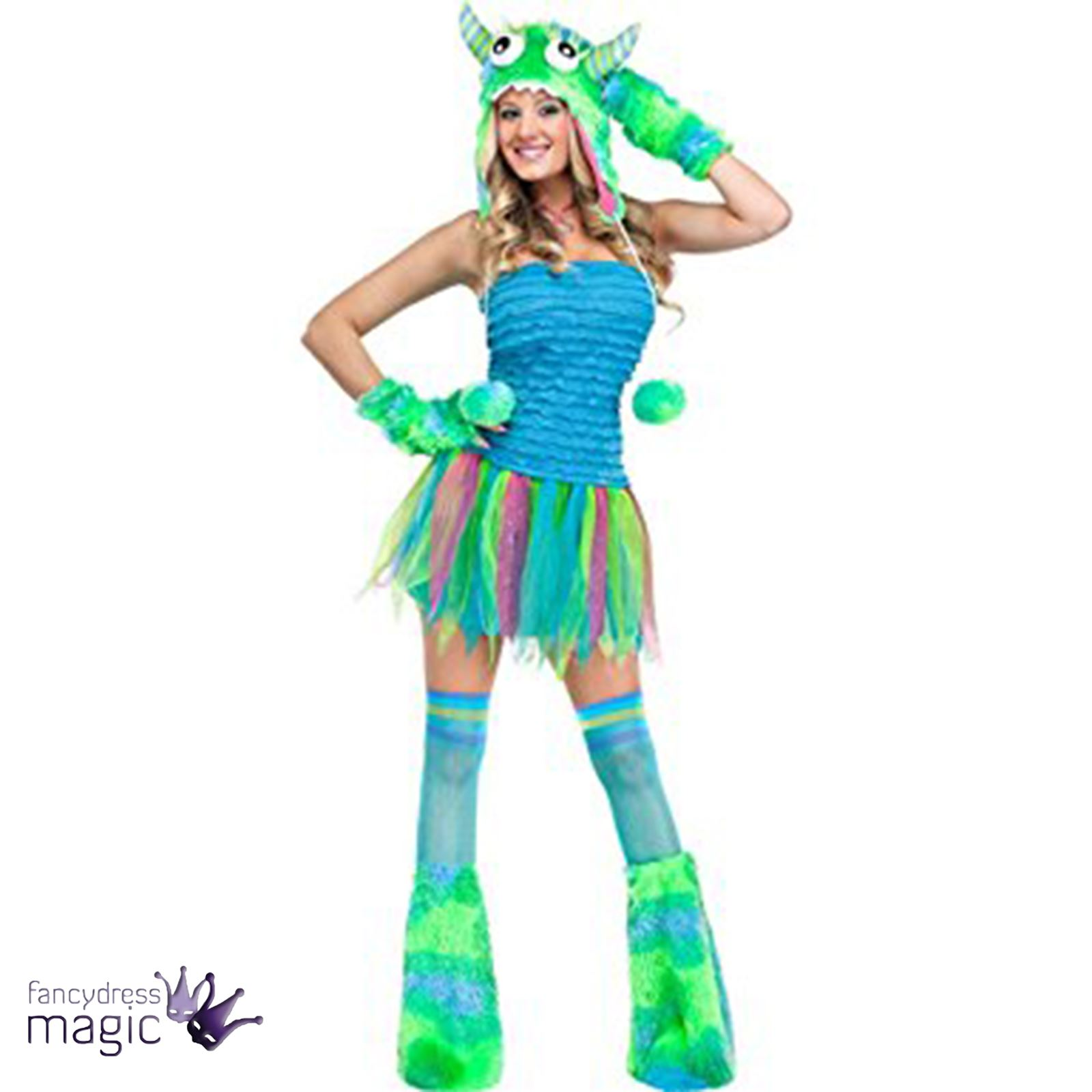 girls kids ladies blue big beastie sully monsters inc halloween costume outfit